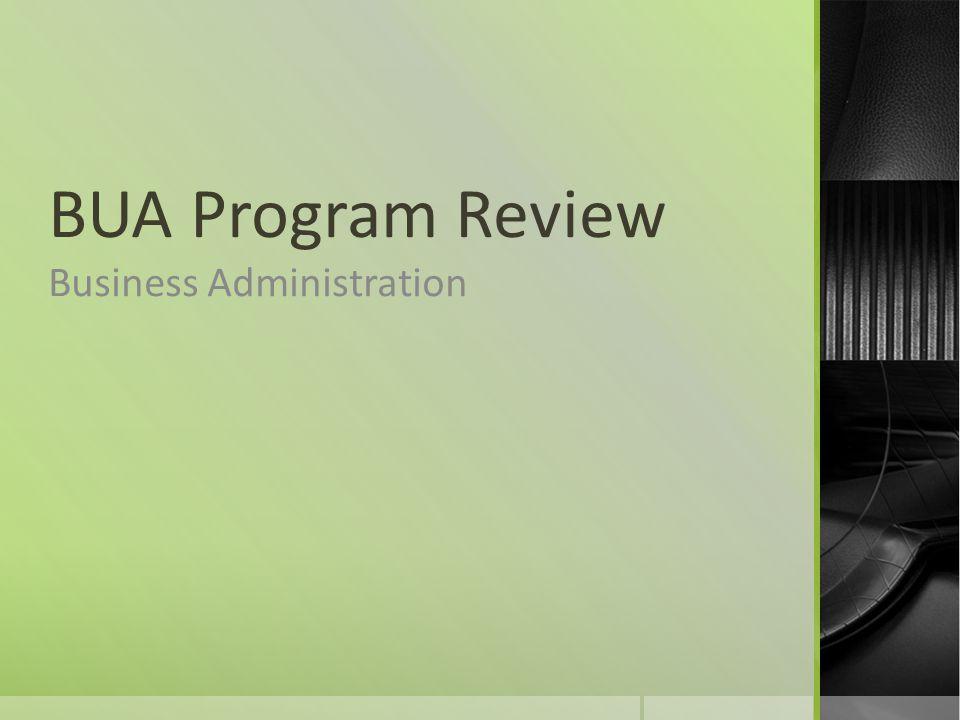 BUA Program Review Business Administration