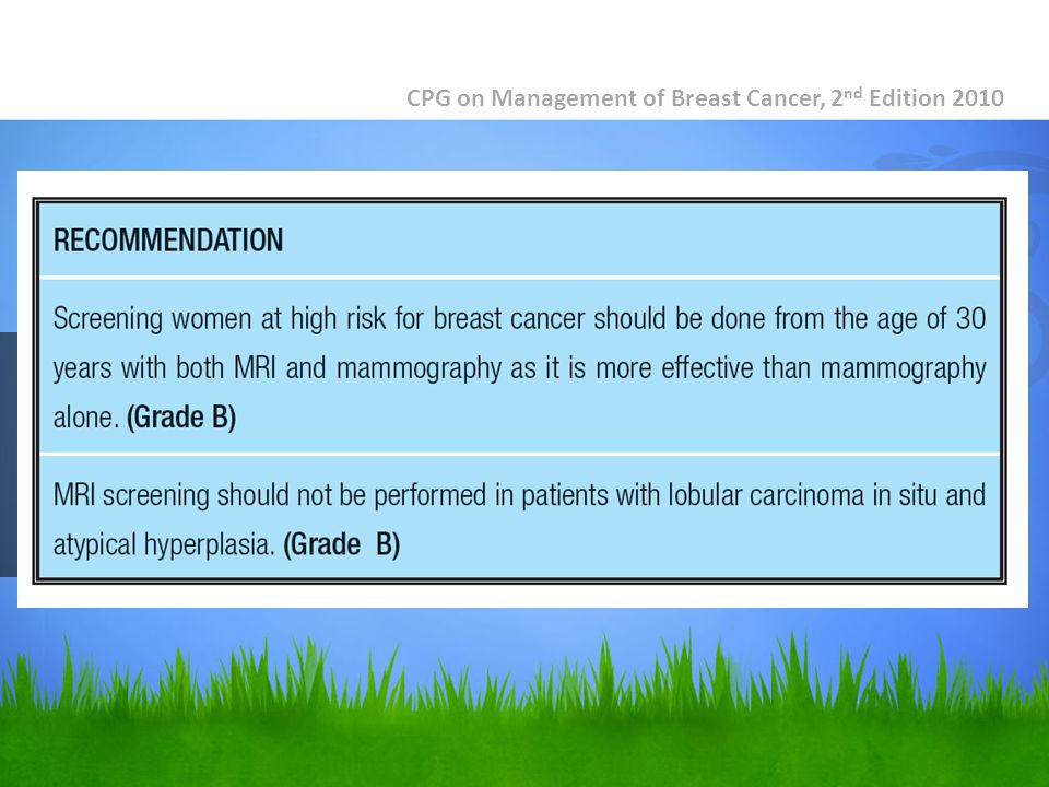 CPG on Management of Breast Cancer, 2 nd Edition 2010