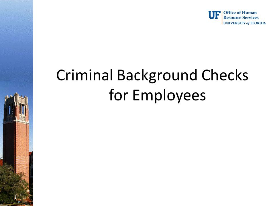 Criminal Background Checks for Employees