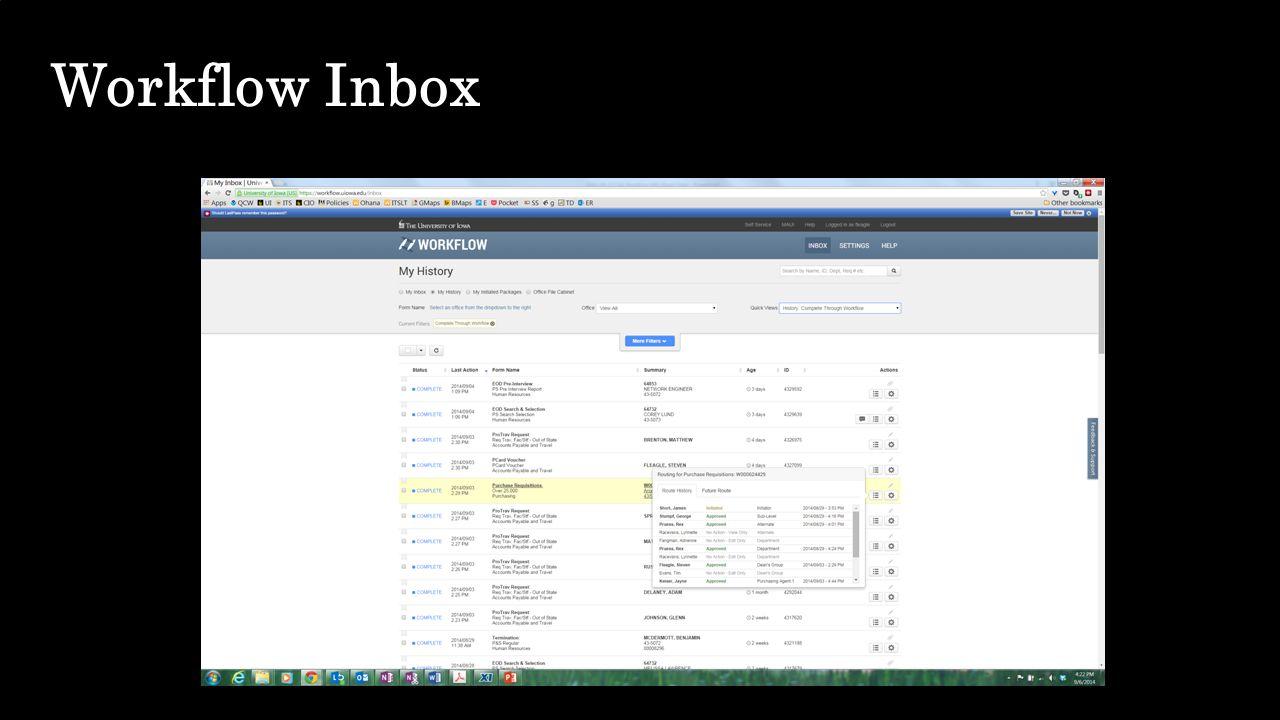 Workflow Inbox