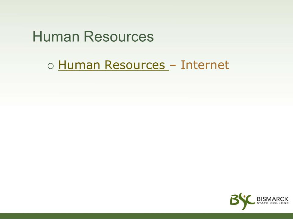 Human Resources  Human Resources – Internet Human Resources