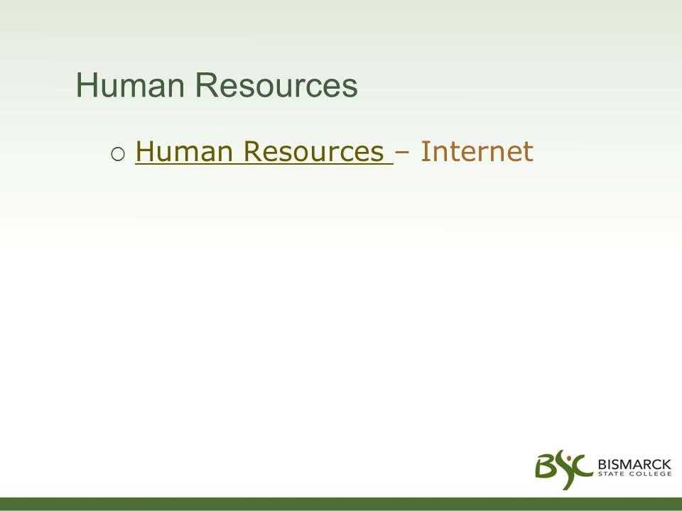 Human Resources  Human Resources – Internet Human Resources