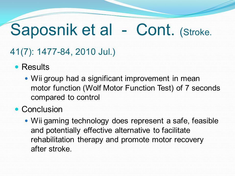 Saposnik et al - Cont.( Stroke.