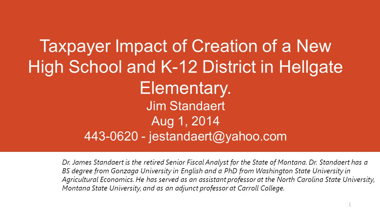 State Fiscal Impact of Creation of New Valley View K-12 District 12