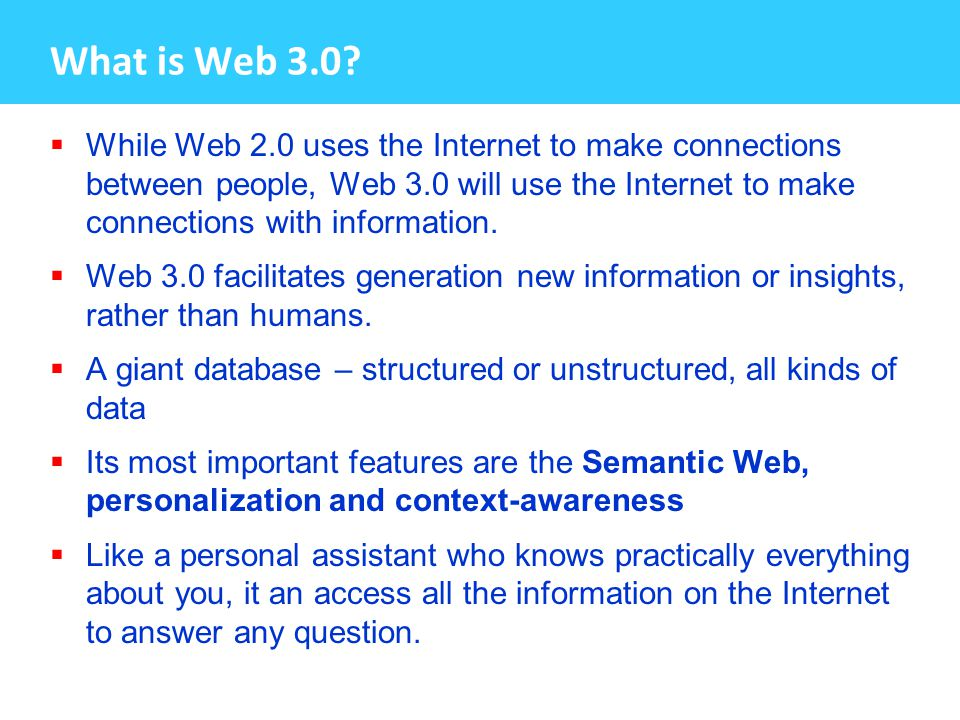 What is Web 3.0.