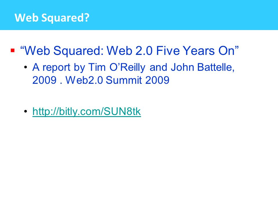 Web Squared.