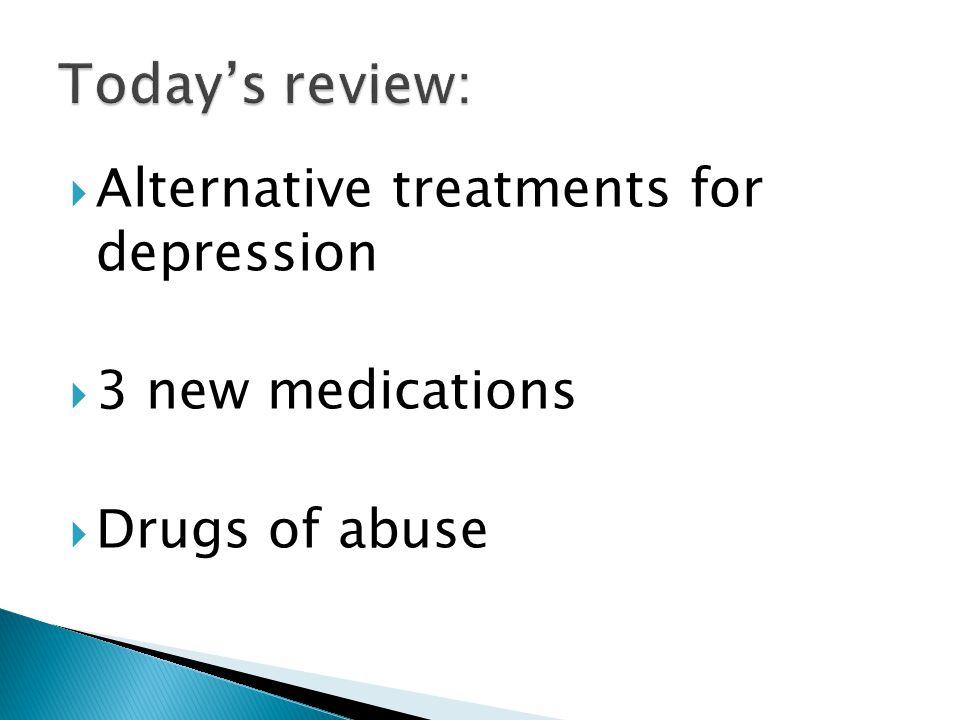 Latuda – atypical antipsychotic Using for mood stabilization, psychosis, adjunct for depression Same family as Abilify, Geodon, Zyprexa, Seroquel