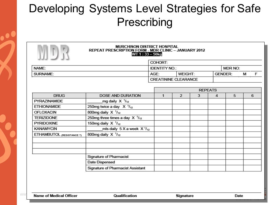 www.aids2014.org Developing Systems Level Strategies for Safe Prescribing