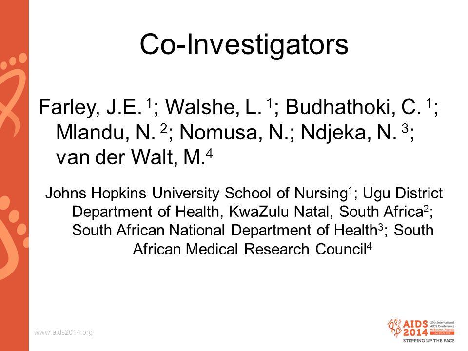 www.aids2014.org Baseline Patient Data on Enrollment 186 eligible patients, 50% females with 77% unemployment.