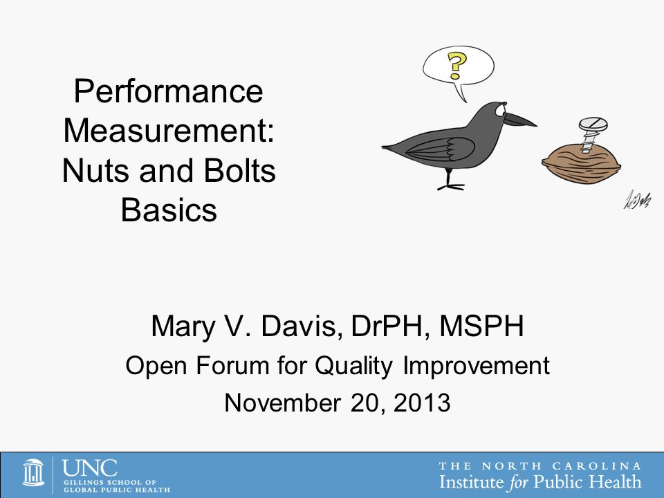 Performance Measurement: Nuts and Bolts Basics Mary V.