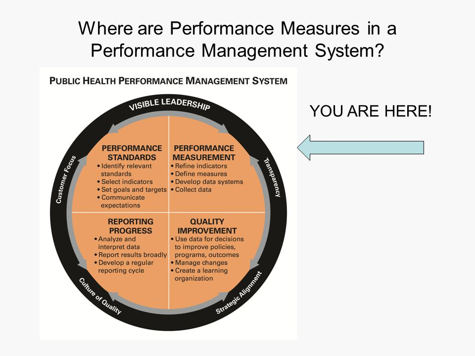 Where are Performance Measures in a Performance Management System YOU ARE HERE!