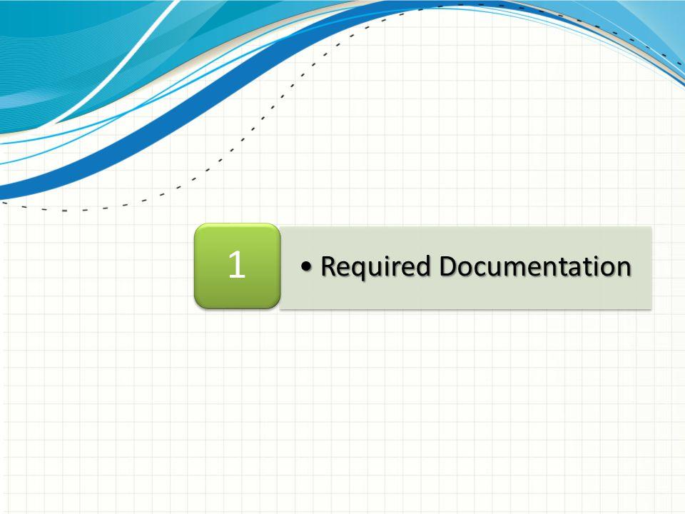 Required DocumentationRequired Documentation 1