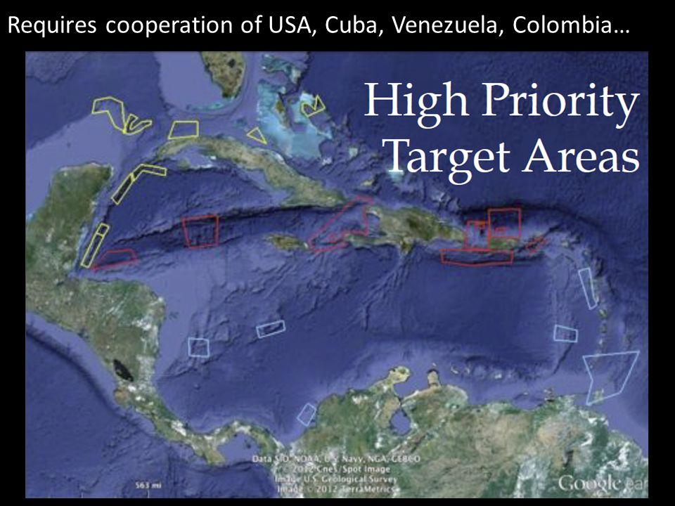 Requires cooperation of USA, Cuba, Venezuela, Colombia…