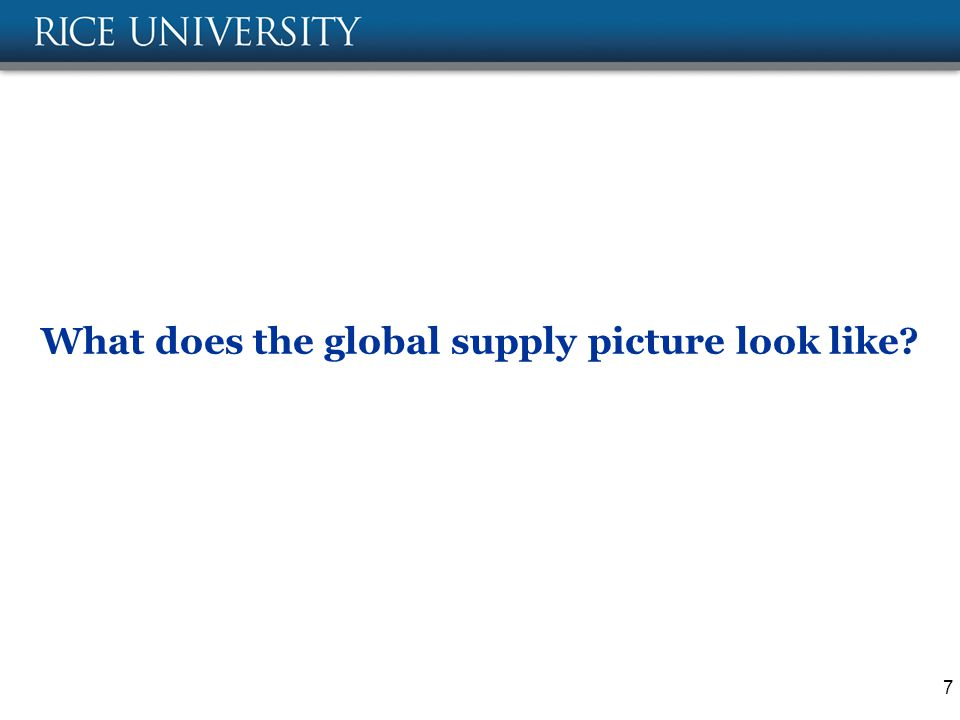 What does the global supply picture look like 7