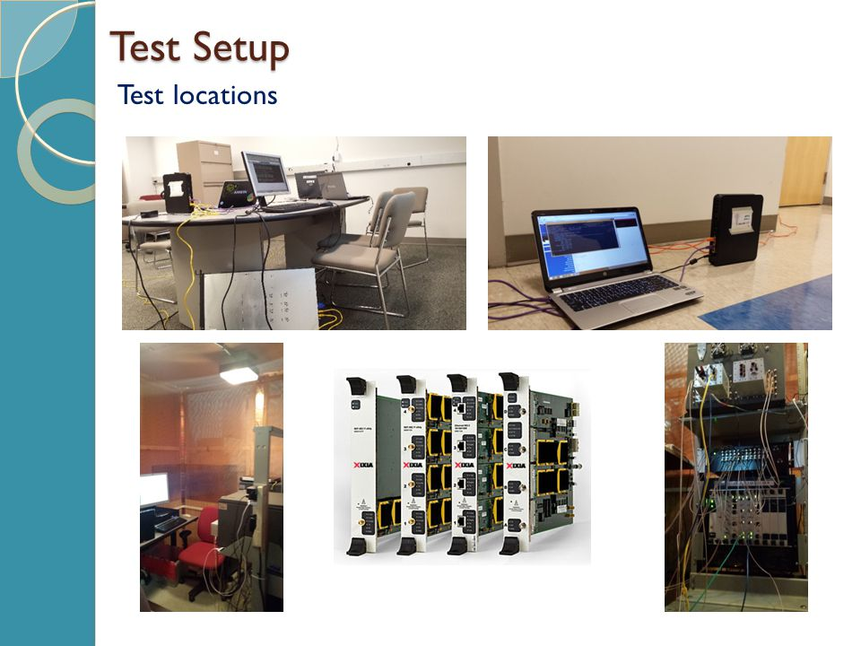 Research Methodology and Results Test 1: SLA Test - Setup Testing the performance of 802.11ac and 802.11n while conforming to stringent SLA requirements Maps to the first subproblem 20 clients emulating a residential network Protocols emulated: TCP, UDP, VoIP, RTP, RTPVideo Flow TypeSLA Metrics VoIPslaMode = R-Value-78 RTP VideoDelayFactor-15 ms, Mlr -0 pkts/min httpper flow-80% tcpper flow-80% udpLatency-20 ms, Jitter-20 ms, PacketLoss-0% rtpper flow-80%, Latency-20 ms, Jitter-20 ms, PacketLoss-0%