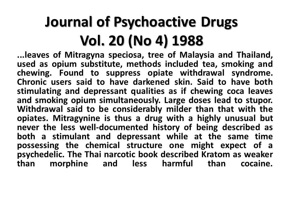 Journal of Psychoactive Drugs Vol.