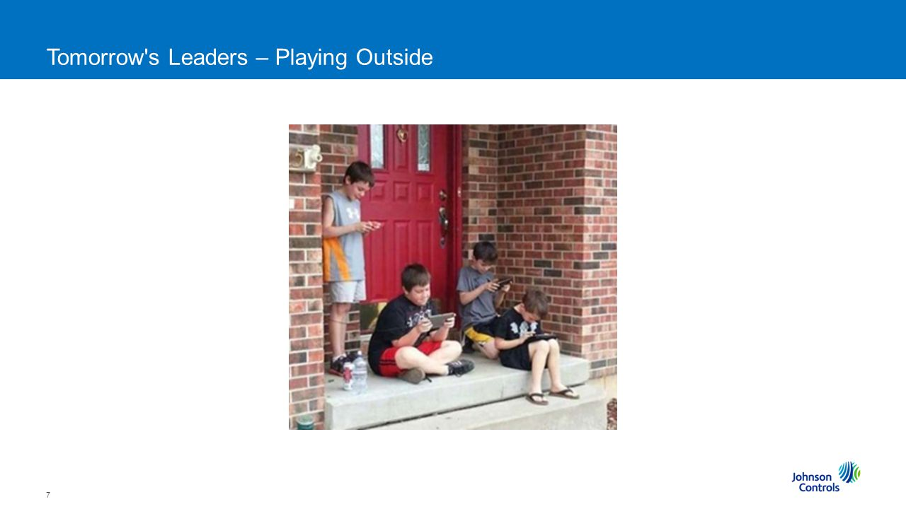 7 Tomorrow s Leaders – Playing Outside