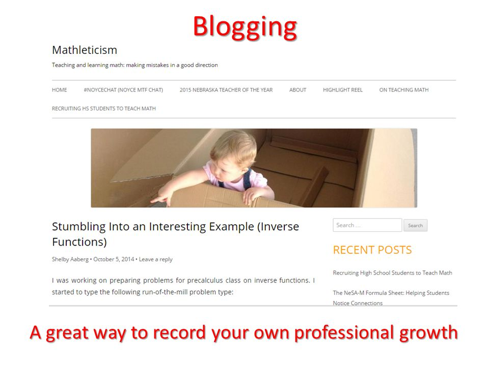 Blogging A great way to record your own professional growth