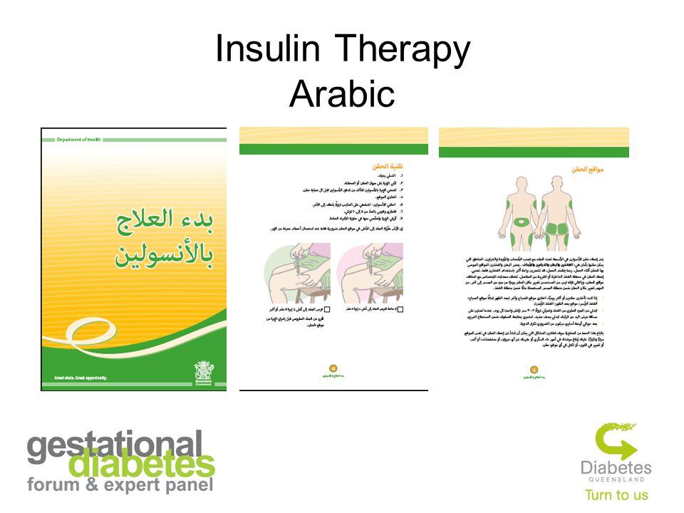 Insulin Therapy Arabic