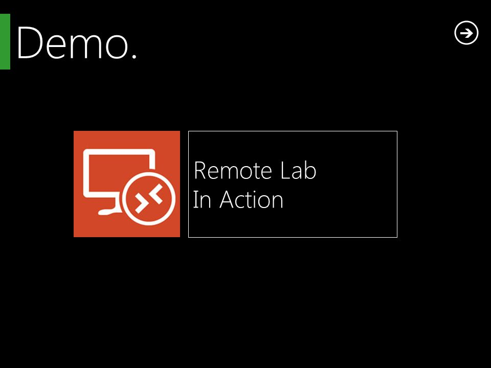Demo. Remote Lab In Action