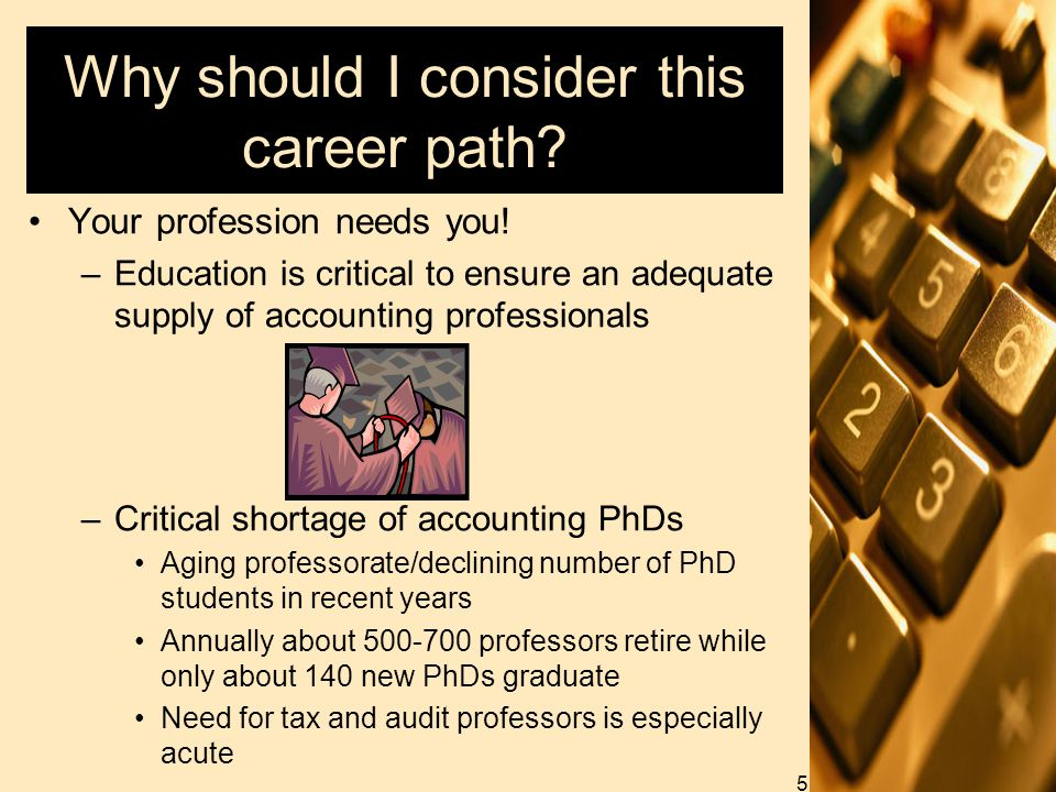 Why should I consider this career path. Your profession needs you.