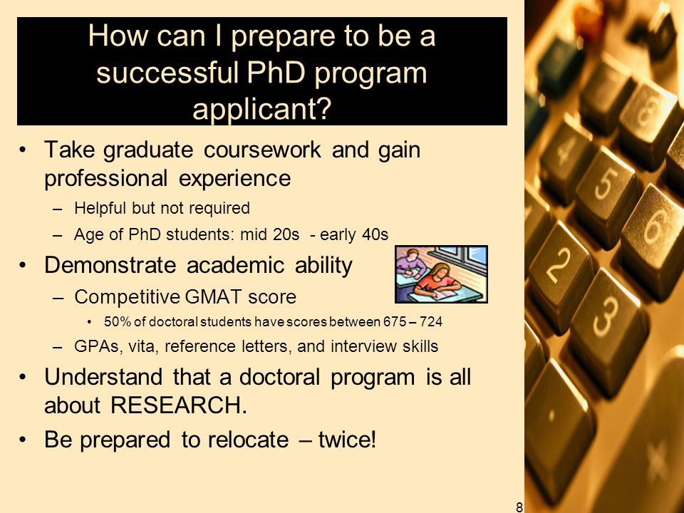 How can I prepare to be a successful PhD program applicant.