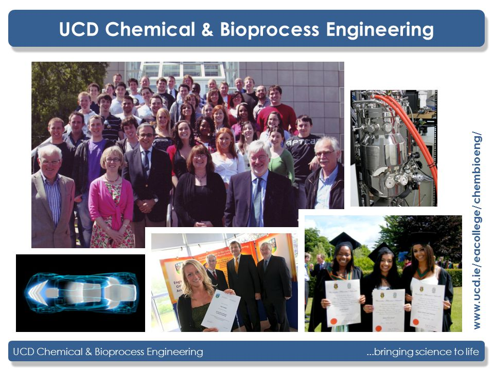...bringing science to lifeUCD Chemical & Bioprocess Engineering www.ucd.ie/eacollege/chembioeng/