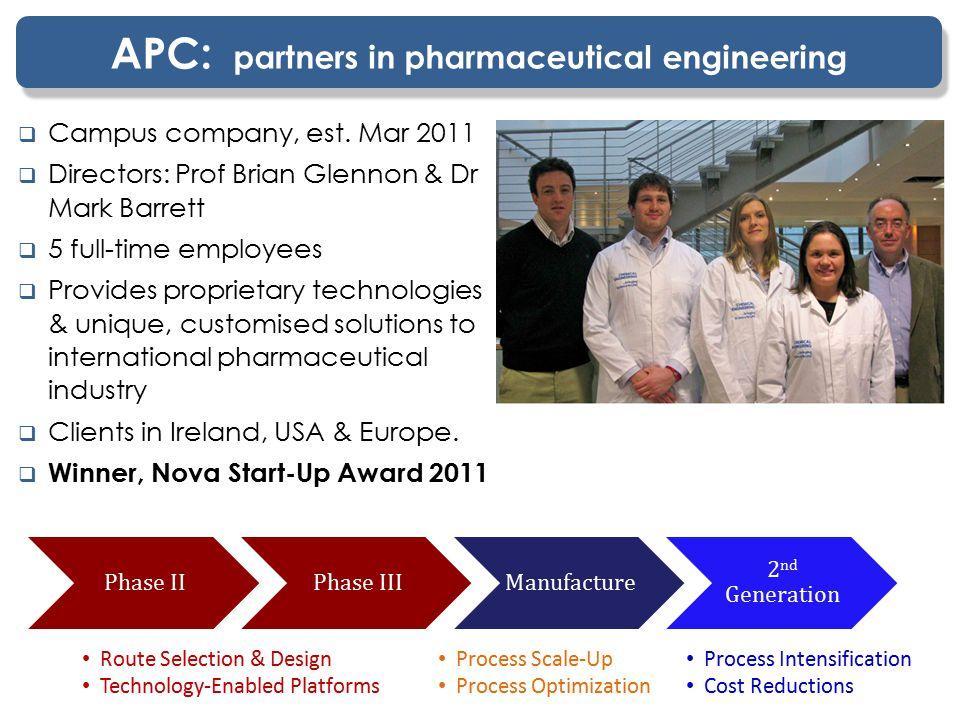 APC: partners in pharmaceutical engineering  Campus company, est.