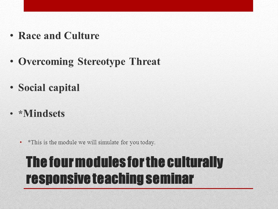 Training in CRT at CCBC Culturally Responsive Teaching Two-week (24 hour) Summer Seminar (stipend) Workshops on Stereotype Threat, Social Capital, Race and Culture and Mindsets Reached 100+ faculty last year; targets another 200 this year, including adjunct faculty.