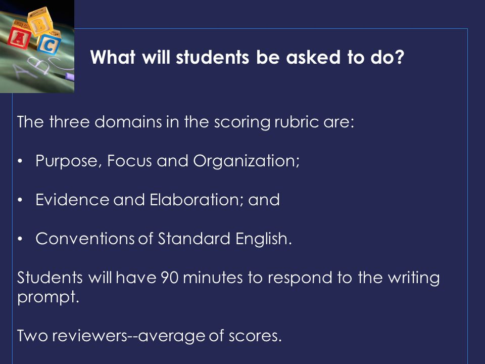 What will students be asked to do.