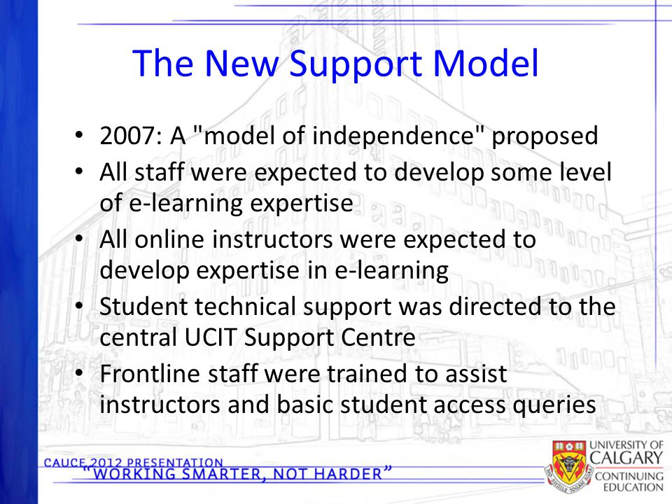 The New Support Model 2007: A