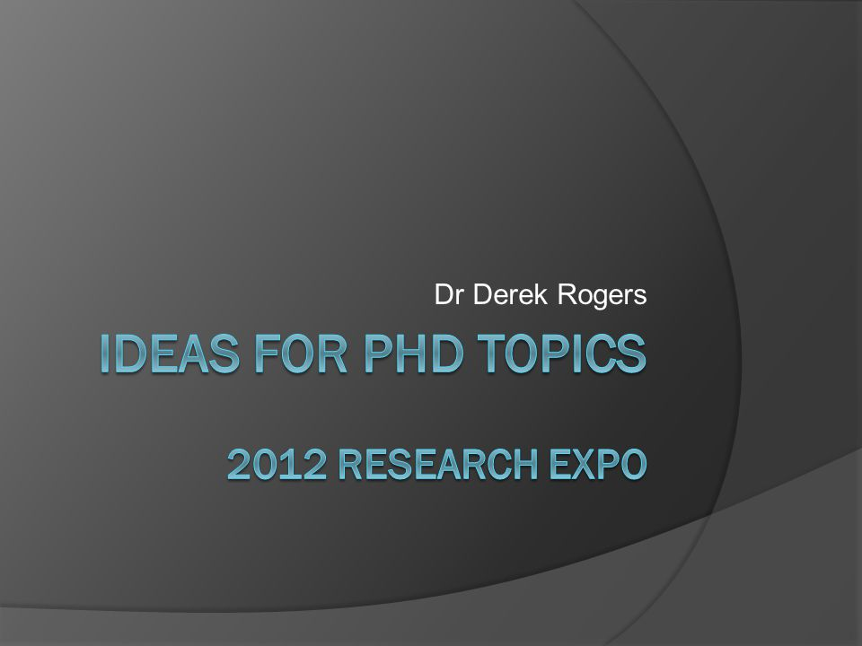 Dr Derek Rogers