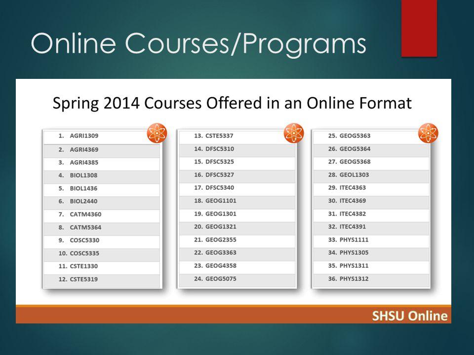 Online Courses/Programs