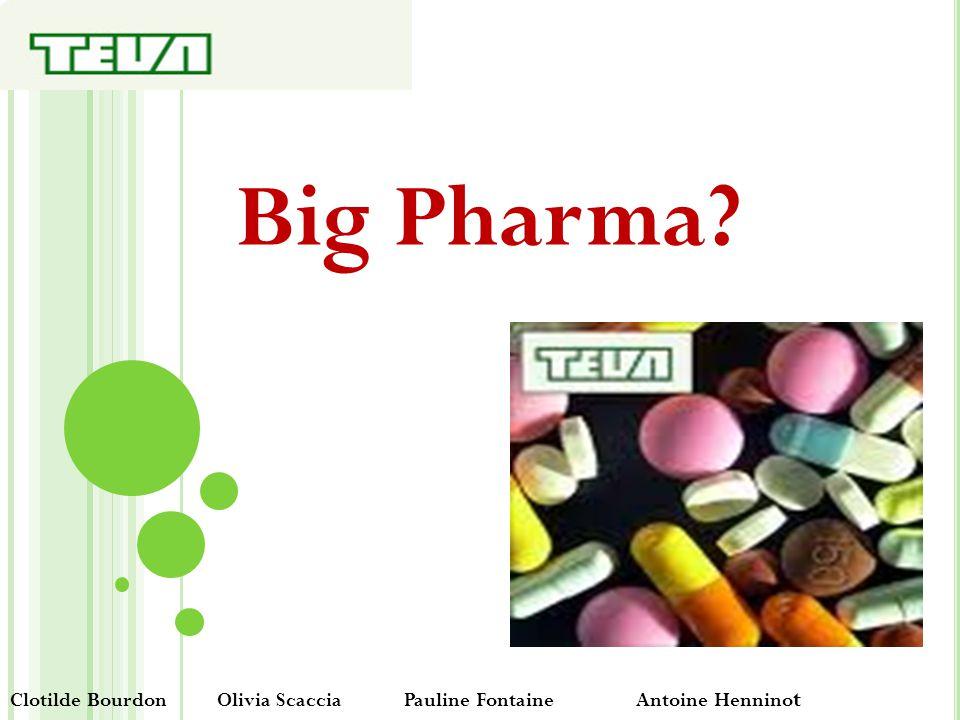 Big Pharma? Clotilde Bourdon Olivia Scaccia Pauline Fontaine Antoine Hennino t