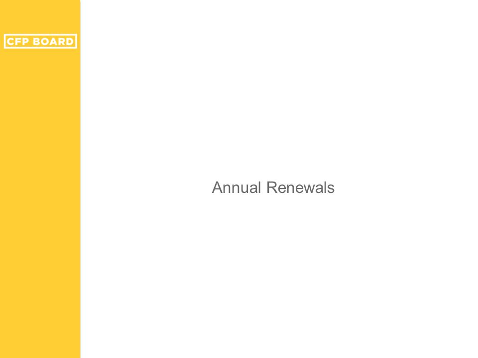 Annual Renewals