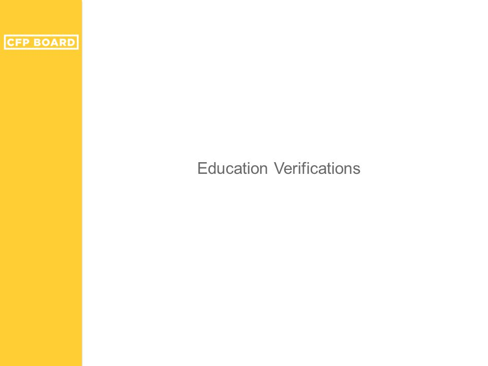 Education Verifications