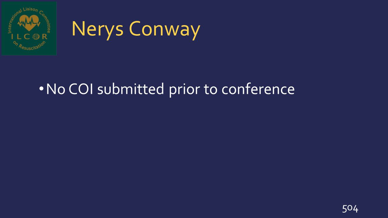 Nerys Conway No COI submitted prior to conference 504