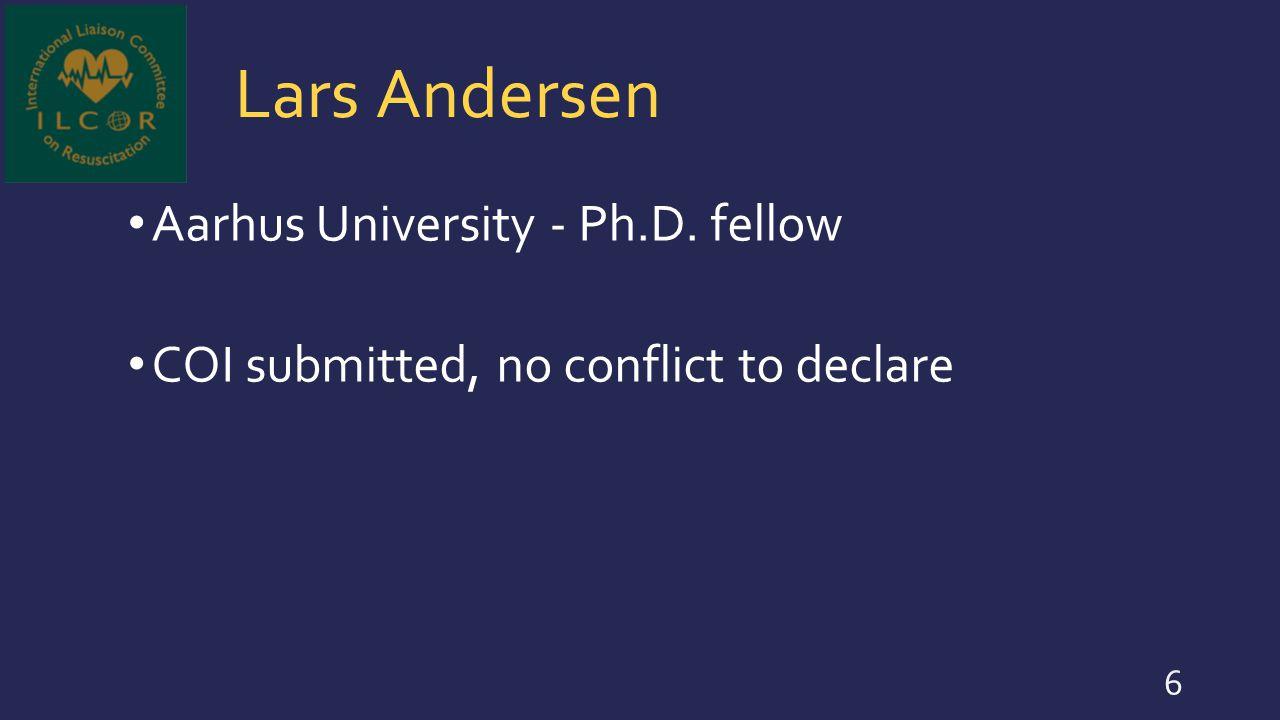 Pierre Carli Université Paris Descartes /APHP - University public hospital; Professor and chairman of the EMS COI submitted, no conflict to declare 37