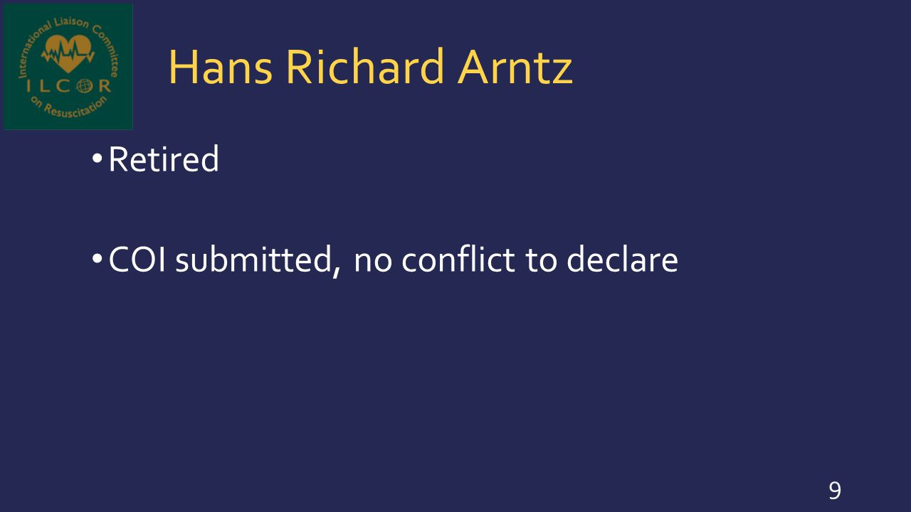 Jan Breckwoldt University of Zurich, Switzerland - CEO, Vice Deanery of Educational Affairs COI submitted, no conflict to declare 30