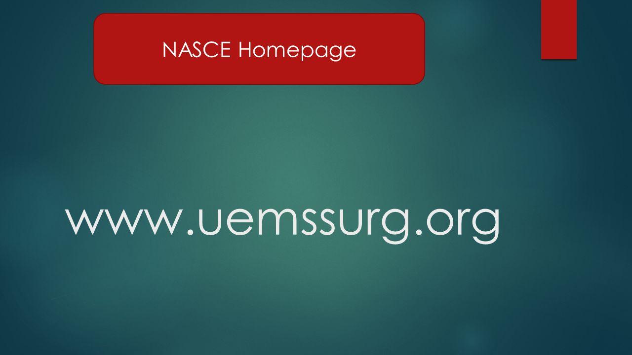 www.uemssurg.org NASCE Homepage