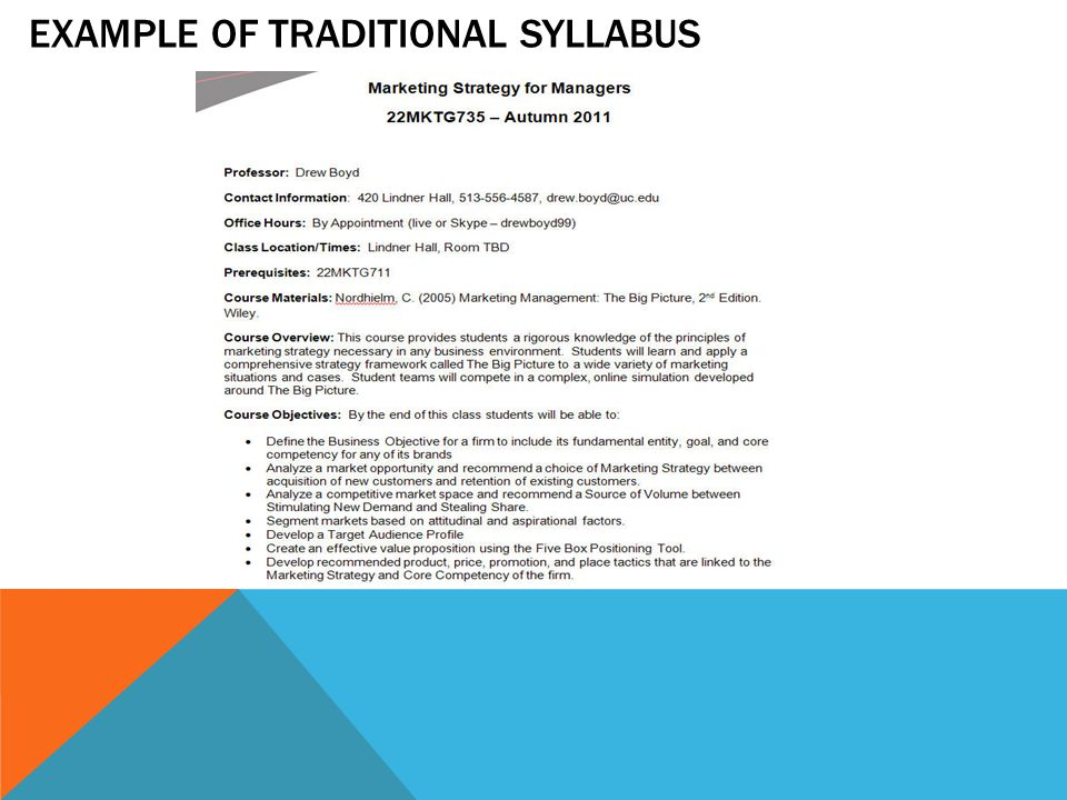TEACHING SYLLABUS: NEW COURSE OVERVIEW