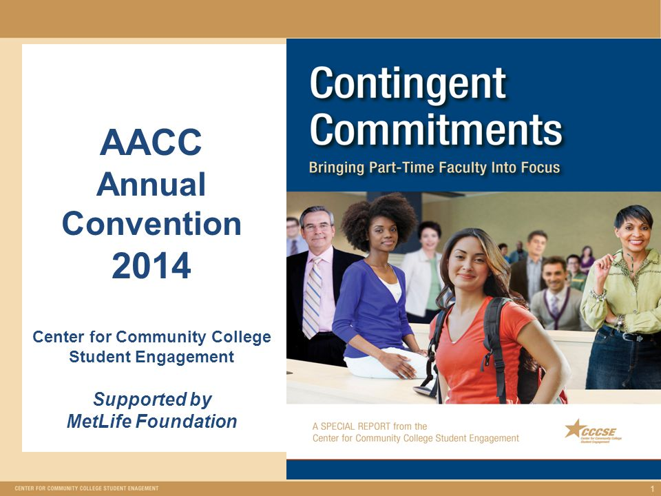 Presenters: Arleen Arnsparger Project Manager, Initiative on Student Success/Strengthening the Role of Part-Time Faculty Jennifer Lara Faculty/Anne Arundel Community College (MD) Member of 21 st Century Commission on the Future of Community Colleges 2