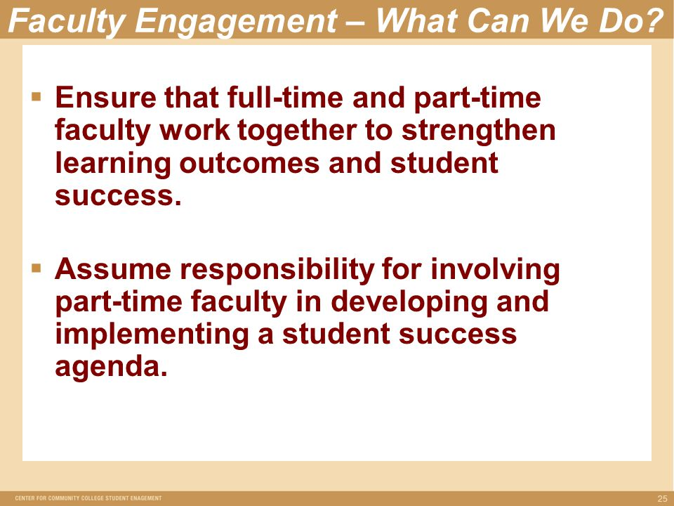 Faculty Engagement – What Can We Do.