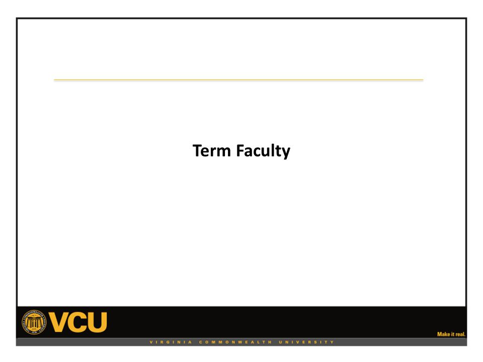 Term Faculty