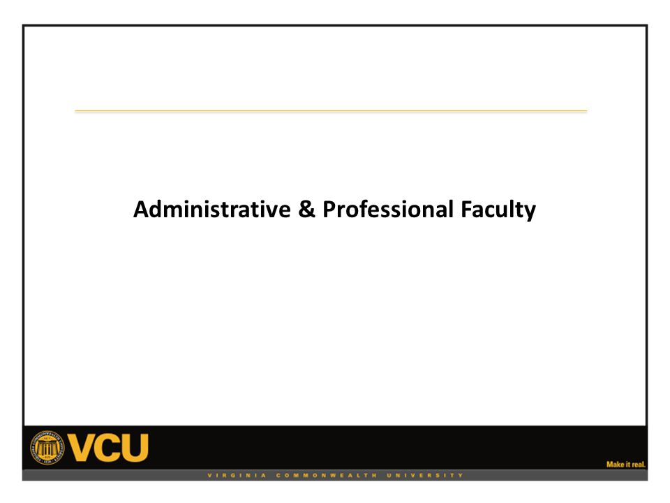 Administrative & Professional Faculty