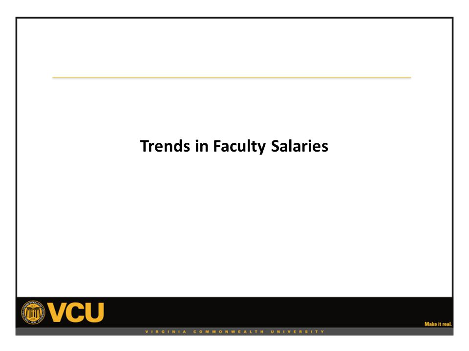 Trends in Faculty Salaries