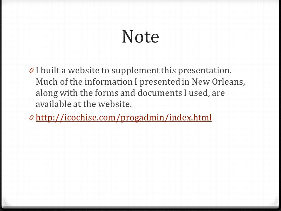 Note 0 I built a website to supplement this presentation.