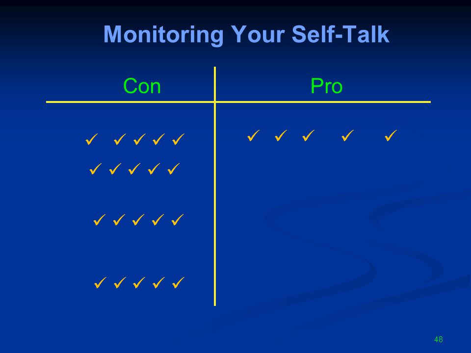 48 Monitoring Your Self-Talk ConPro