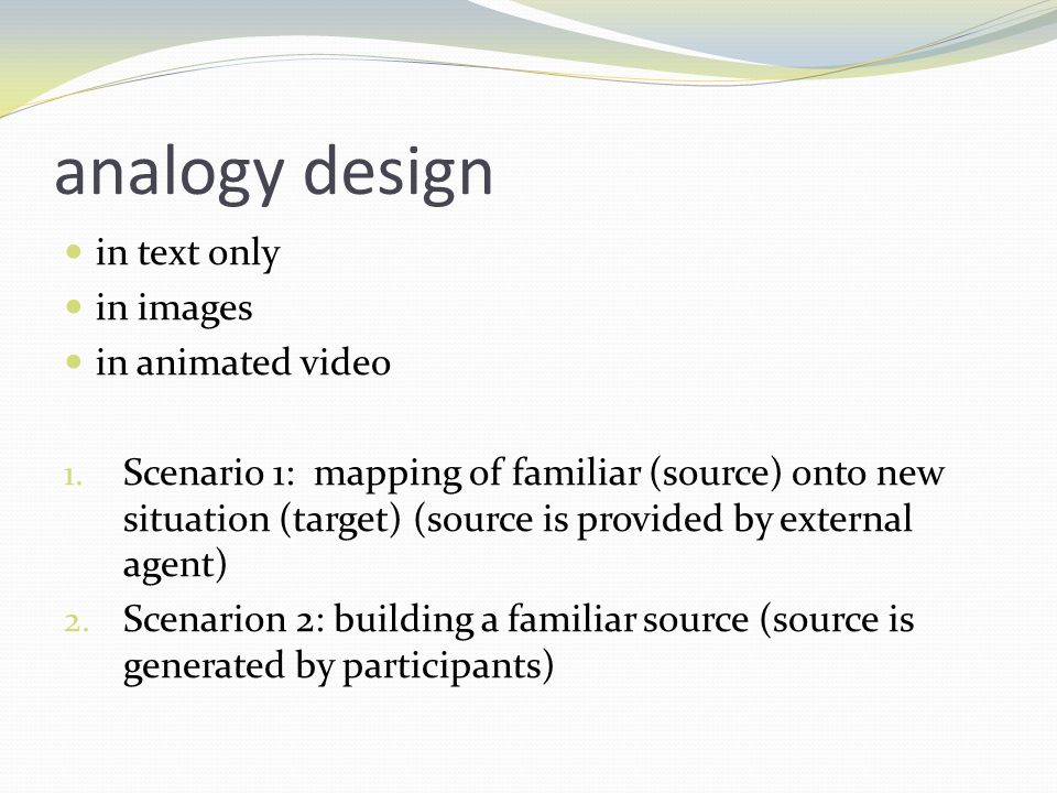 analogy design in text only in images in animated video 1.