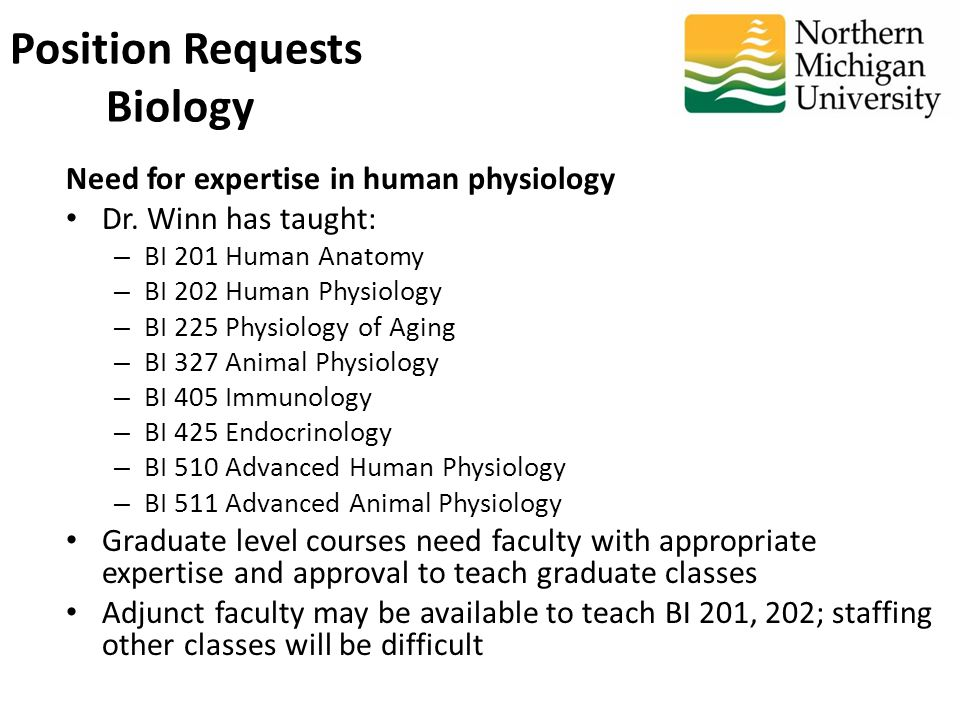 Need for expertise in human physiology Dr.